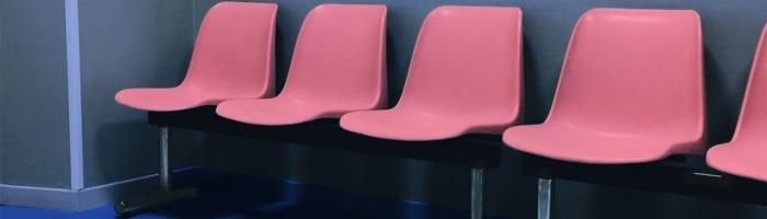 pink waiting room chairs